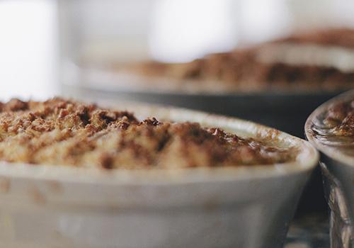 le pâté va cuire à une température de 80°.