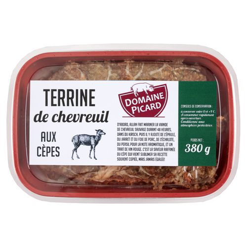 Barquette de pâté de chevreuil